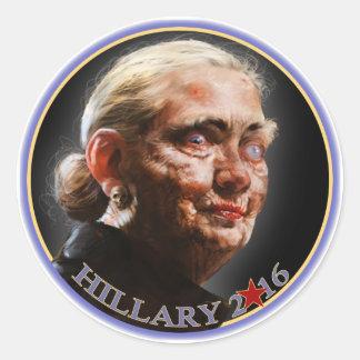 Hillary 2016 pegatinas pegatina redonda