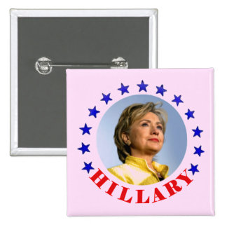 Hillary 2016 pin cuadrado