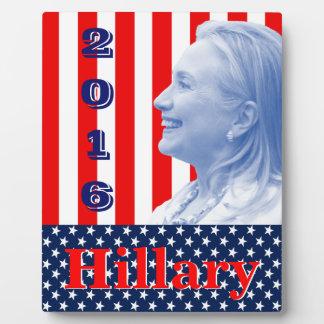 Hillary 2016 plaque
