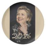 Hillary 2016 plato de cena