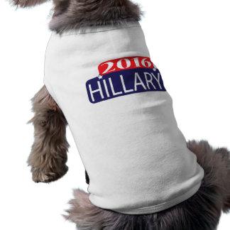 Hillary 2016 playera sin mangas para perro
