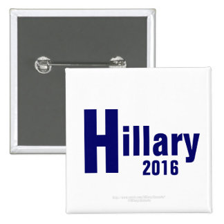 Hillary 2016 por el Pin cuadrado de