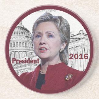 Hillary 2016 posavasos cerveza