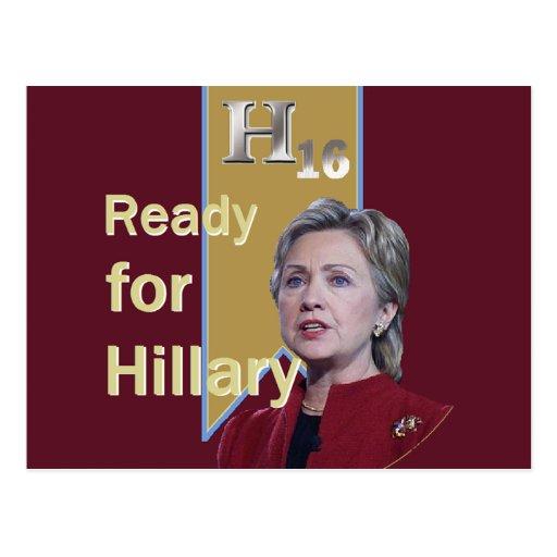 Hillary 2016 Postcard