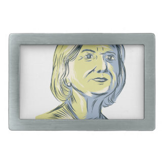 Hillary 2016 President Drawing Belt Buckle