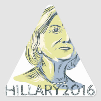 Hillary 2016 President Drawing Triangle Sticker