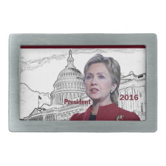 Hillary 2016 rectangular belt buckle