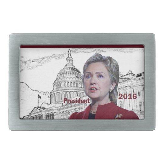 Hillary 2016 rectangular belt buckle