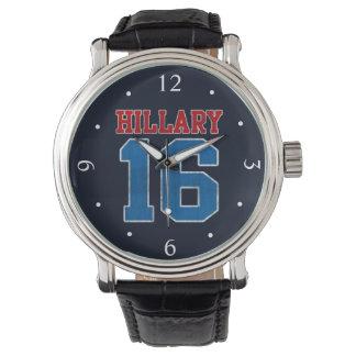 Hillary 2016, recuerdo retro del Grunge político Reloj De Mano