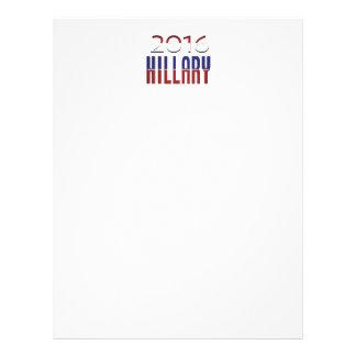 Hillary 2016 Rojo-blanco-Azul Plantilla De Membrete