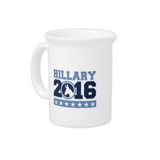HILLARY 2016 ROUND DONKEY DRINK PITCHERS
