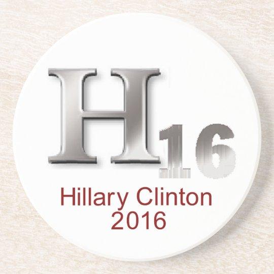 Hillary 2016 sandstone coaster