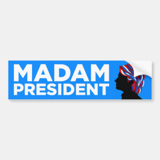 "Hillary 2016: ""Señora presidente"" pegatina para el Pegatina Para Auto"