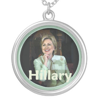 Hillary 2016 silver plated necklace