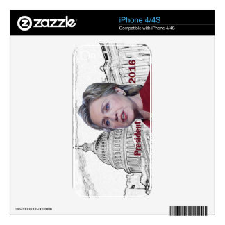 Hillary 2016 skins for the iPhone 4S