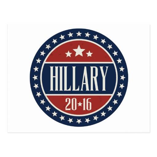 HILLARY 2016 STARCIRCLE -.png Postcard