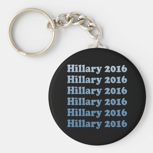 HILLARY 2016 STEP AND REPEAT.png Basic Round Button Keychain