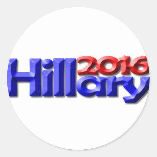 Hillary 2016 round stickers
