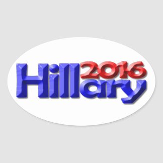 Hillary 2016 oval stickers
