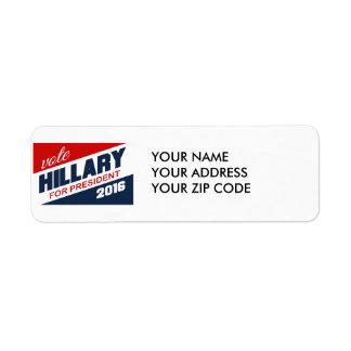 HILLARY 2016 SUPPORTER -.png Return Address Label