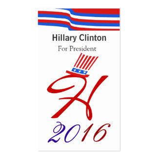 Hillary 2016 tarjetas de visita