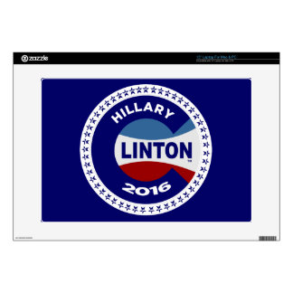 """HILLARY 2016 THE TIME IS NOW! 15"""" LAPTOP DECALS"""
