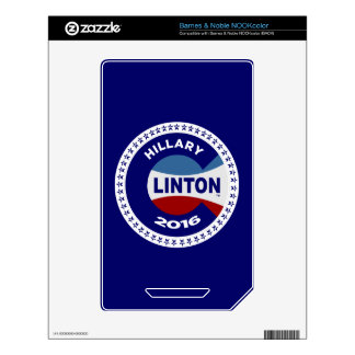 HILLARY 2016 THE TIME IS NOW! NOOK COLOR DECAL