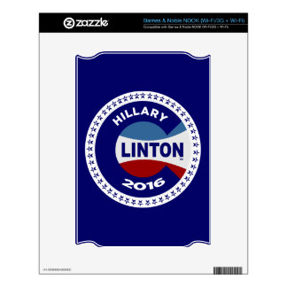 HILLARY 2016 THE TIME IS NOW! NOOK DECALS