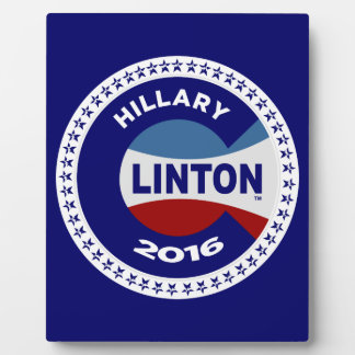 HILLARY 2016 THE TIME IS NOW! PHOTO PLAQUE