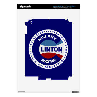 HILLARY 2016 THE TIME IS NOW! SKINS FOR iPad 3