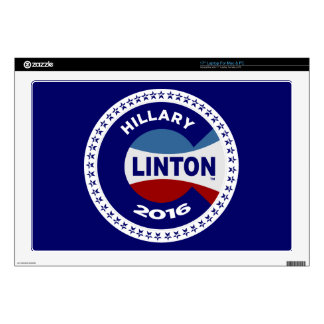 HILLARY 2016 THE TIME IS NOW! SKINS FOR LAPTOPS