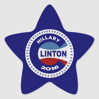 HILLARY 2016 THE TIME IS NOW! STAR STICKER