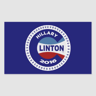 HILLARY 2016 THE TIME IS NOW! RECTANGULAR STICKER