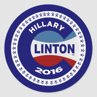 HILLARY 2016 THE TIME IS NOW! CLASSIC ROUND STICKER