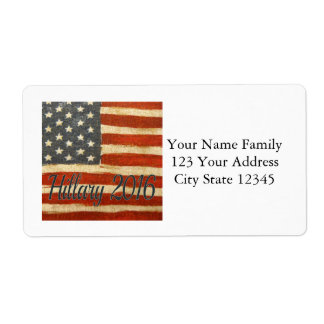 Hillary 2016   Vintage Flag square.jpg Shipping Label