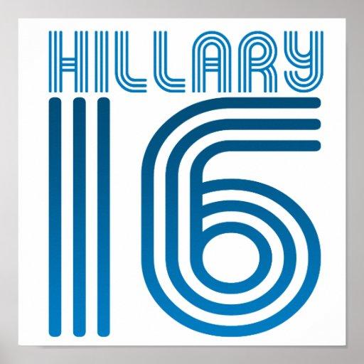 HILLARY 2016 VINTAGE.png Print