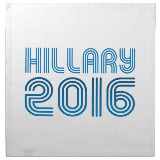 HILLARY 2016 VINTAGE -.png Printed Napkin