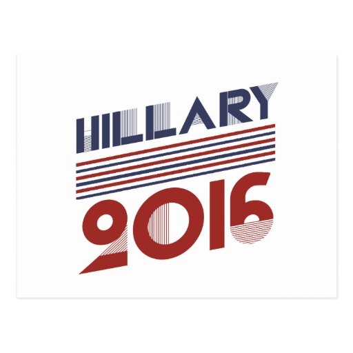 HILLARY 2016 VINTAGE STYLE -.png Postcard