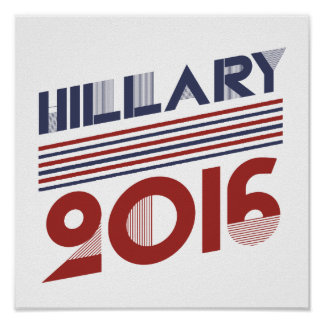 HILLARY 2016 VINTAGE STYLE - png Print