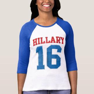 Hillary 2016, Vintage Varsity Baseball Jersey T-Shirt