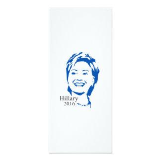HIllary 2016 Vote HIllary Clinton for President 4x9.25 Paper Invitation Card