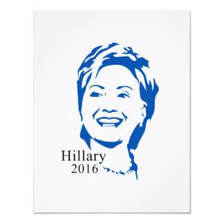 HIllary 2016 Vote HIllary Clinton for President 4.25x5.5 Paper Invitation Card