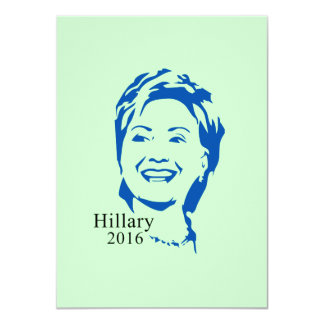 HIllary 2016 Vote HIllary Clinton for President 4.5x6.25 Paper Invitation Card