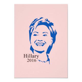 HIllary 2016 Vote HIllary Clinton for President 4.5x6.25 Paper Invitation Card
