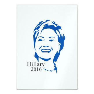 HIllary 2016 Vote HIllary Clinton for President 5x7 Paper Invitation Card