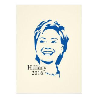 HIllary 2016 Vote HIllary Clinton for President 6.5x8.75 Paper Invitation Card