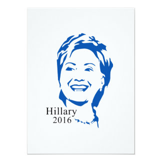 HIllary 2016 Vote HIllary Clinton for President 5.5x7.5 Paper Invitation Card