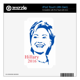 HIllary 2016 | Vote HIllary Clinton for President iPod Touch 4G Skin