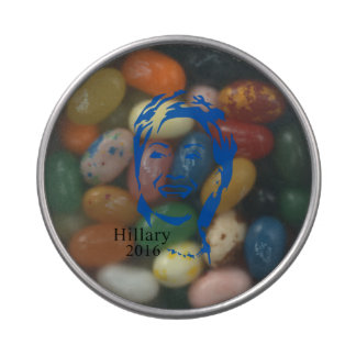 Hillary 2016 Vote Hillary Clinton for President Jelly Belly Candy Tins
