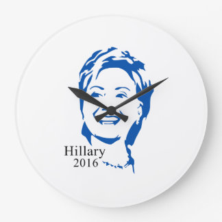 Hillary 2016 Vote Hillary Clinton for President Large Clock